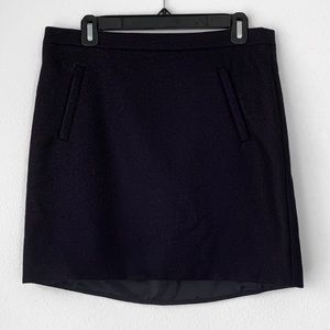 J.Crew Double Surge Wool Zip Pocket Mini Skirt